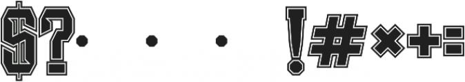 JKR - RADICAL ALTERNATE otf (400) Font OTHER CHARS