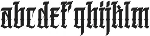 JKR - TEQUILERO otf (400) Font LOWERCASE