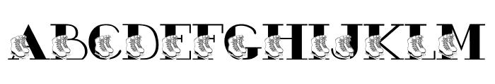 JLR Ashleigh's Skates Font UPPERCASE