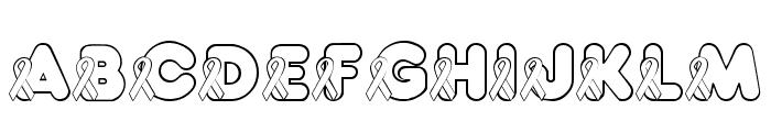 JLR Awareness Ribbons Font UPPERCASE