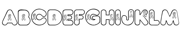 JLR Awareness Ribbons Font LOWERCASE