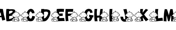 JLR Baby Font UPPERCASE