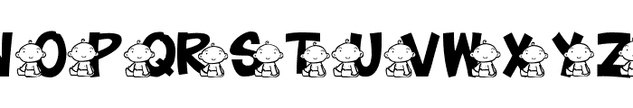 JLR Baby Font LOWERCASE