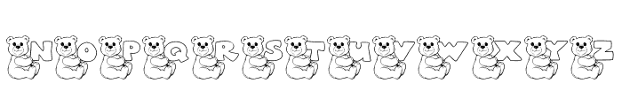 JLR Bearly There Font UPPERCASE