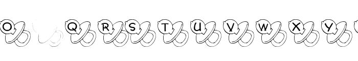 JLR Binky Font UPPERCASE