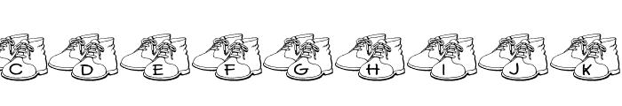 JLR Bronzed Shoes Font UPPERCASE
