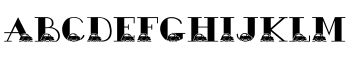 JLR Bubble Car Font UPPERCASE