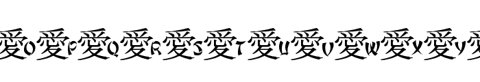 JLR Chinese Love Font UPPERCASE