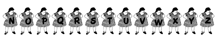 JLR Chubby Chick Font UPPERCASE