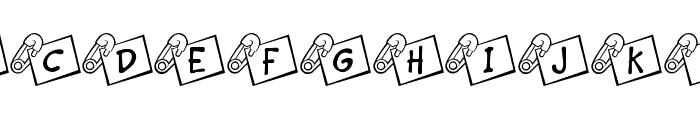JLR Diaper Pin Font UPPERCASE