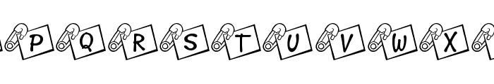 JLR Diaper Pin Font LOWERCASE