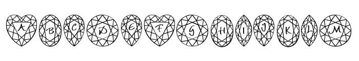 JLR Di's Gems Font UPPERCASE