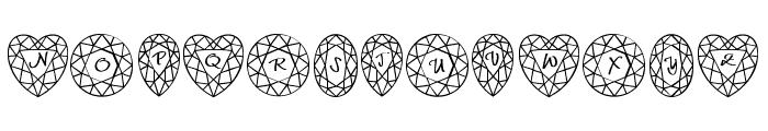 JLR Di's Gems Font LOWERCASE