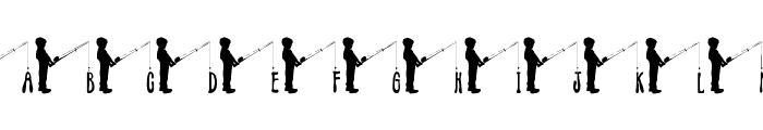 JLR Fishin' Hole Font UPPERCASE