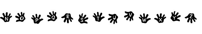 JLR Gimme Five! Font LOWERCASE