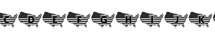 JLR God Bless the USA LSF Font UPPERCASE