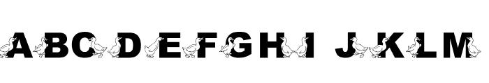 JLR Golden Goose Font UPPERCASE