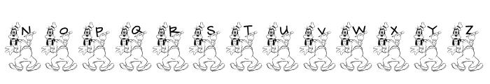 JLR Goofy Writing Font LOWERCASE