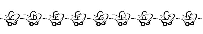 JLR  Haulin' Love Font UPPERCASE