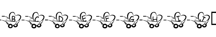 JLR  Haulin' Love Font LOWERCASE