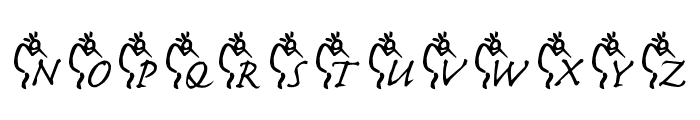 JLR Kokopelli 1 Font LOWERCASE