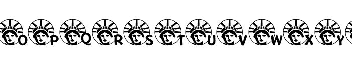 JLR Lady Liberty LSF Font UPPERCASE