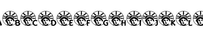 JLR Lady Liberty LSF Font LOWERCASE