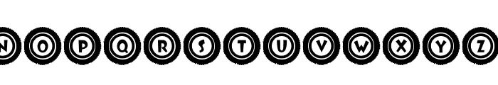 JLR Li'l Bit Tires Font UPPERCASE