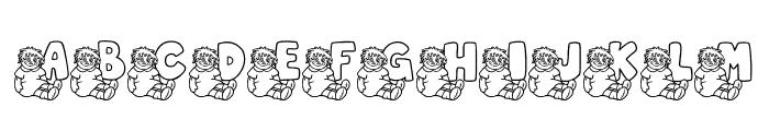 JLR Rags 1 Font UPPERCASE