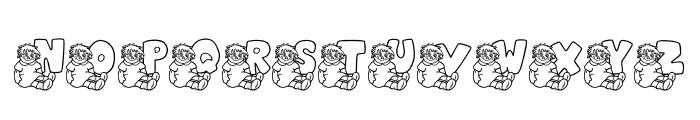 JLR Rags 1 Font LOWERCASE