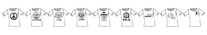 JLR T-Shirt Font OTHER CHARS