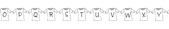 JLR T-Shirt Font LOWERCASE