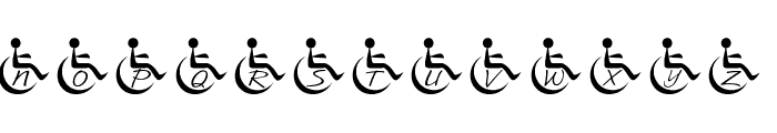 JLR Wheelchair Font UPPERCASE
