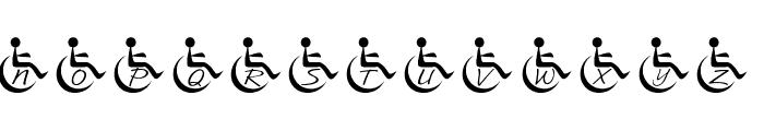 JLR Wheelchair Font LOWERCASE