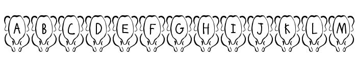 JLR White Meat Font UPPERCASE