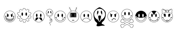 JLS Smiles Sampler Font LOWERCASE