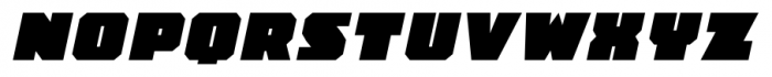 JLS OverKill Champion SC Oblique Font UPPERCASE