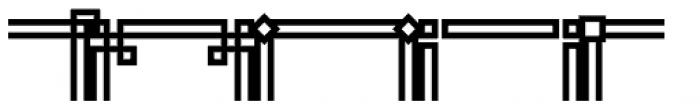 JLS Main Square Frames B Font UPPERCASE