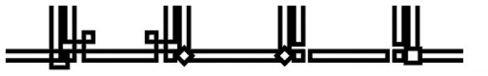JLS Main Square Frames B Font LOWERCASE