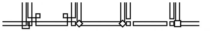 JLS Main Square Frames D Font LOWERCASE