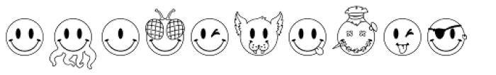 JLS Smiles Sampler Font UPPERCASE