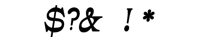 JMHCajita-BoldItalic Font OTHER CHARS
