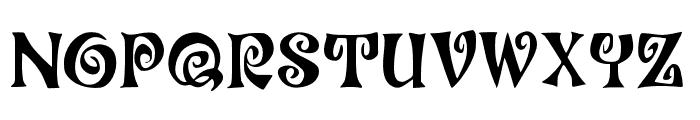 JMHCoronilla-Regular Font UPPERCASE