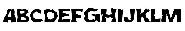 JMHCromI-Regular Font UPPERCASE
