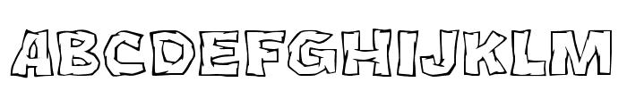 JMHCromII-Regular Font UPPERCASE