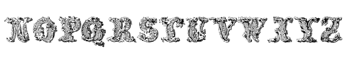 JMHDecornaCaps-Regular Font UPPERCASE