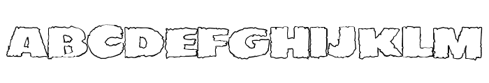 JMHEERIEOUT-Regular Font UPPERCASE