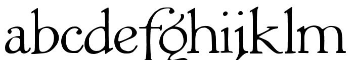 JMHGrace-Regular Font LOWERCASE