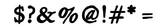 JMHLegajo-Bold Font OTHER CHARS