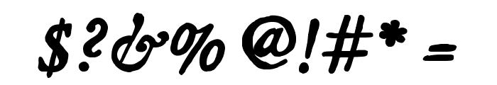 JMHLegajo-BoldItalic Font OTHER CHARS